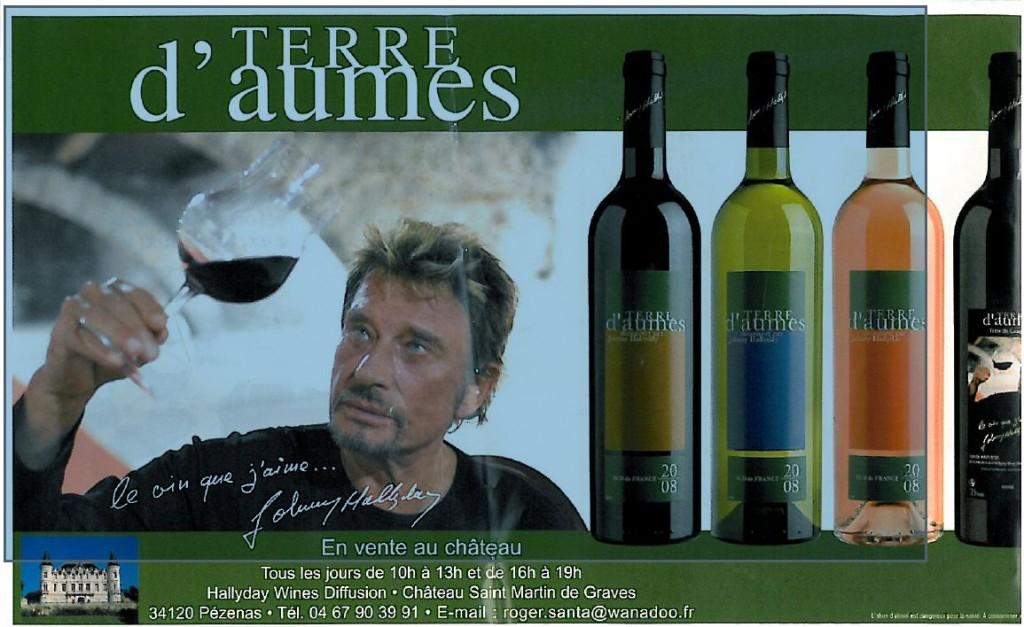 johnny halliday et le vin